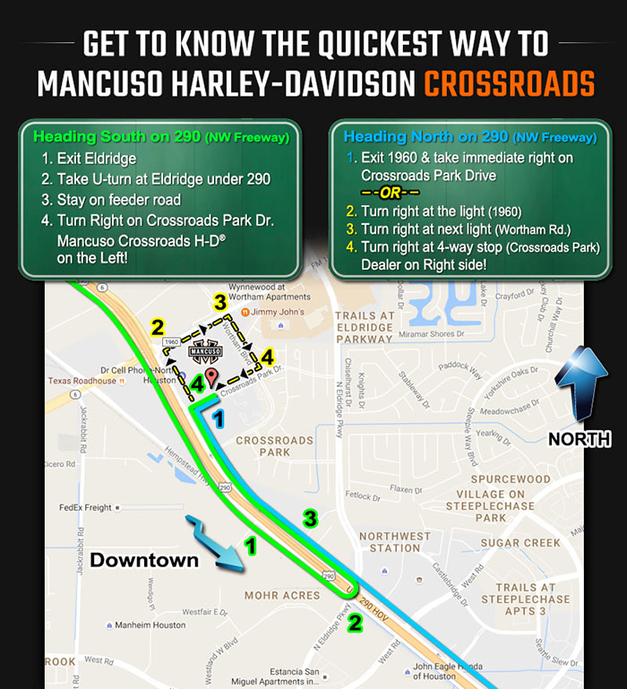 Hours And Location Mancuso HarleyDavidson Crossroads Houston - Houston in us map
