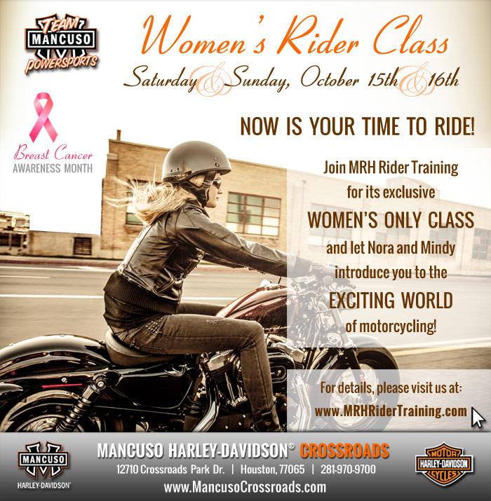 Mancuso Harley Davidson >> Womens Rider Class Mancuso Harley Davidson Crossroads